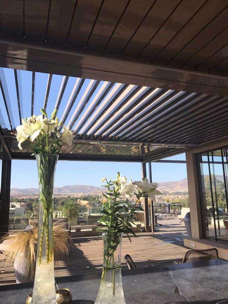 פרגולת איירולוקס למרפסת ביתית